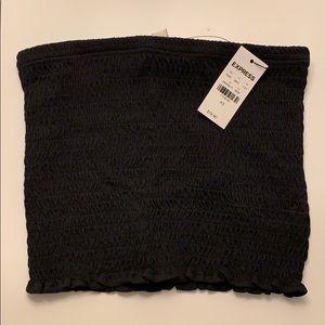 NWT Express Black Smock Crop Top - Size XS